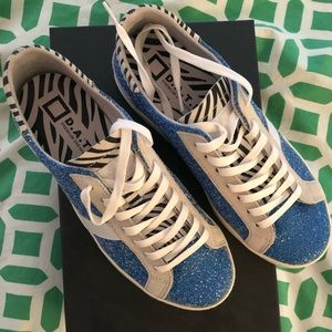 D.A.T.E hill low glitter sneakers